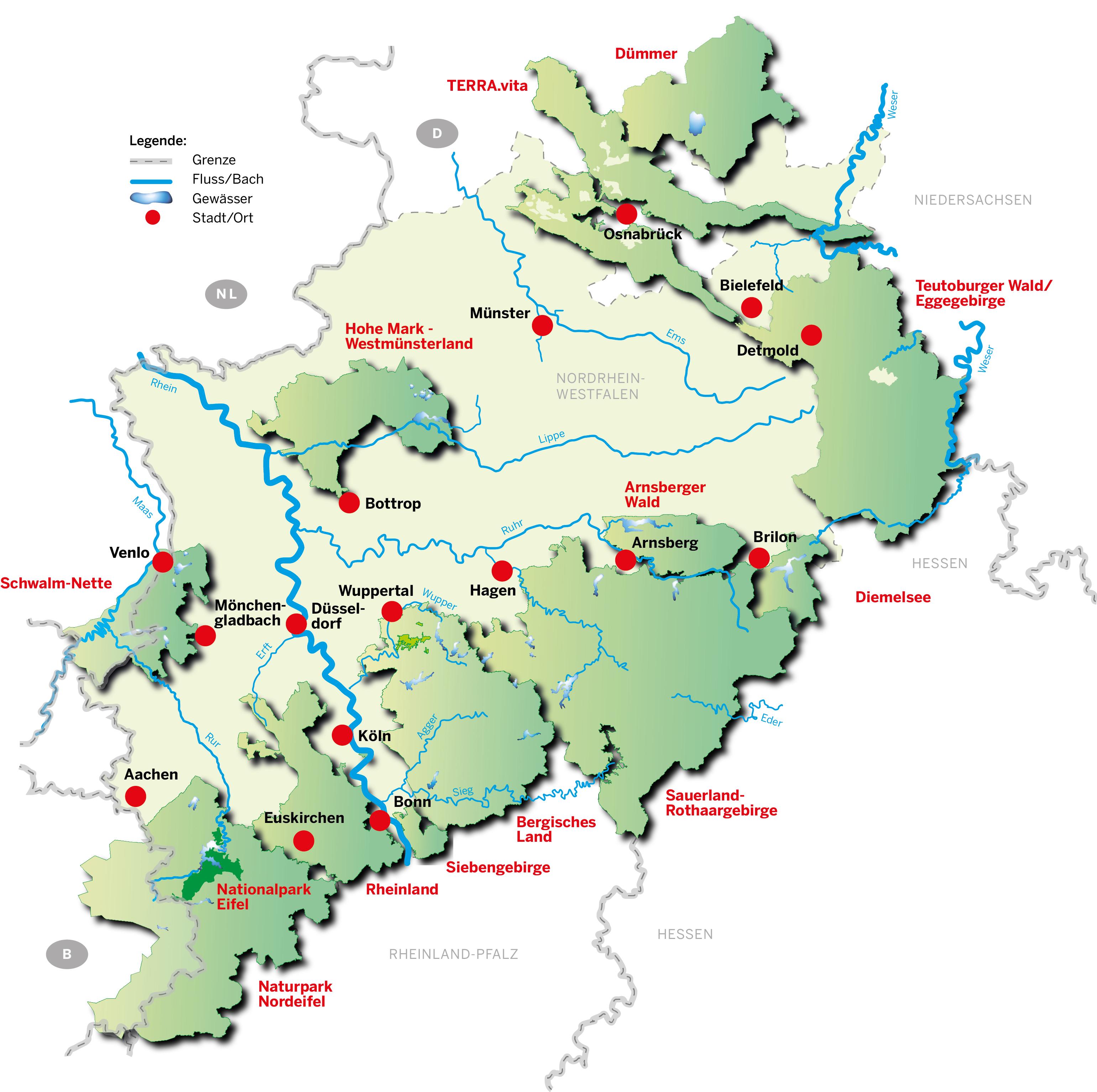 Nationalpark Eifel Karte.Umweltministerium Nrw Die Naturparke In Nrw Und Der Nationalpark Eifel